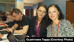 На міжнароднай канфэрэнцыі ў Алматы з Андрэем Пачобутам і Вольгай Хвоін