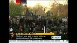 Iranian Protesters Storm U.K. Embassy In Tehran