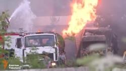 Бишкекте май ташыган автоунаа жарылды