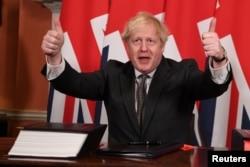 Борис Джонсон радуется заключению торгового соглашения с ЕС