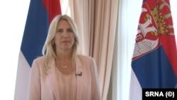 Bosnian politican and president of the Bosnian entity Republic of Srpska, Zeljka Cvijanovic, pictured in Banja Luka, July 23, 2021.