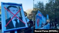 Demonstrație împotriva președintelui francez Emmanuel Macron la Kabul