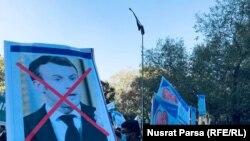 Manifestație împotriva lui Emmanuel Macron în Afghanistan