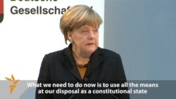 Merkel Says Germany Must Combat Intolerance