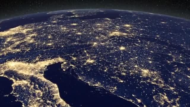 Pământul văzut noaptea din cer