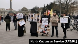 Акция против депортации уроженцев Чечни в Австрии