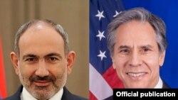 Armenian Prime Minister Nikol Pashinian and U.S. Secretary of State Anthony Blinken