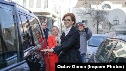 Ioana Basescu, a volt román elnök Traian Basescu lánya 2016-ban.