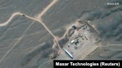 Космический снимок иранского ядерного объекта в Натанзе, центральный Иран (2020 год.)