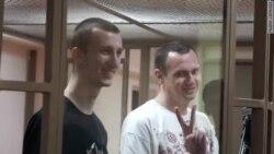 Сенцов і Кольченко в залі суду в Ростові-на-Дону
