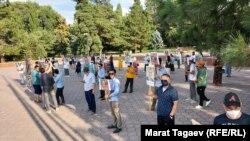Орхан Инандыны кайтарып келүү талабы менен өткөн акция. Бишкек. 7-июль, 2021-жыл.