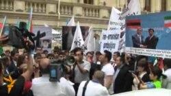 İranın səfirliyi qarşısında etiraz aksiyası