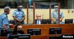 Mladić tokom izricanja drugostepene presude u Hagu, 8. juni 2021.