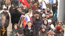 Митинг на проспекте Сахарова: люди