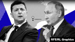 Володимир Зеленський і Володимир Путін. Колаж