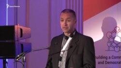 Володимир Притула читает речь Николая Семены в Брюсселе (видео)