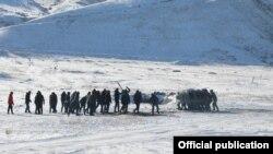 Кыргызстандын Куралдуу күчтөрүнүн аскерлеринин машыгуусу. 9-декабрь, 202-жыл.