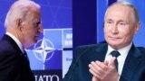 Джо Байден (слева) и Владимир Путин (коллаж)