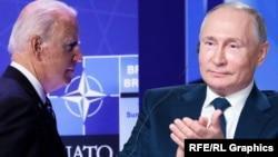 Presidenti i Shteteve të Bashkuara, Joe Biden dhe ai rus, Vladimir Putin.