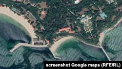"""Трите плажа до резиденция """"Евксиноград"""" се виждат на картите на Google"""