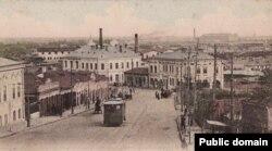 Perspectivă asupra portului Galați, începutul secolului XX