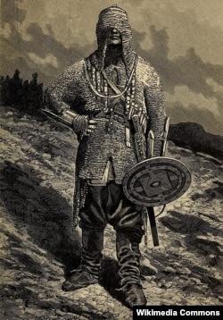 Чеченец из альбома Э. Эйхвальда 1825-1826 гг