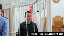Мікола Дзядок на першым пасяджэньні суду 29 чэрвеня 2021