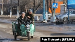 Кордойдун Шор-Төбө кыштагы. Жамбыл облусу, Казакстан. 2021-жылдын 2-февралы.