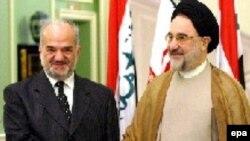 Премьер-министр Ирака аль-Джаафари с бывшим президентом Ирана Хатами