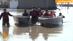 Село Оразак после наводнения