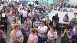'İstək' litseyinin qarşısında etiraz aksiyası [9 iyul]