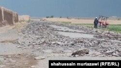 'تخریب شاهراه غزنی-پکتیکا توسط مخالفان مسلح دولت افغانستان'