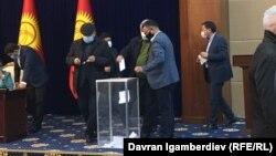 Выборы спикера на заседании Жогорку Кенеша. 13 октября 2020 года.