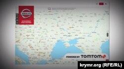 Зображення мапи від картографічного ресурсу TomTom
