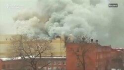 Zeci de morți într-un incendiu de proporții la un Mall în Siberia