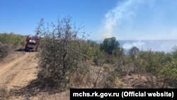 Лесной пожар под Алуштой, 8 сентября 2021 года