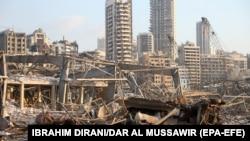 ویرانی های ناشی از انفجار در بیروت