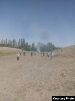 Жители Куммазора на расчистке территории