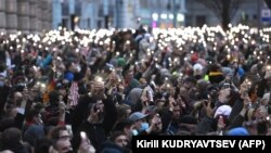 Навальний ҳимоясига ўтказилган митинглардан бири, Москва, 2021 йил 21 апрели
