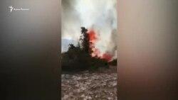Все в дыму и огне – пожар в Старом Крыму (видео)