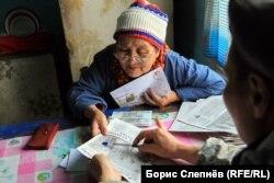 Самая пожилая жительница Чинонги Евдокия Скорнякова