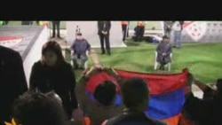 Flag Flap At Turkey-Armenia Soccer Match