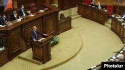 Nikol Paşinyan avqustun 26-da Ermənistanın Milli Məclisində çıxış edib