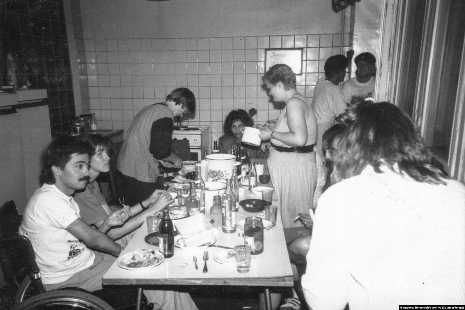 Общежитие в Москве. 1989 год