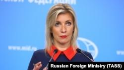 Архивска фотографија: Портпаролката на руското Министерство за надворешни работи, Марија Захарова. 1 јули 2021 година.