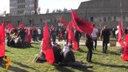 Përmbledhje nga protesta e opozitës