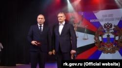 Сергій Аксенов на церемонії заохочення співробітників військових судів, грудень 2018 року