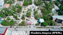 Центральный парк Семея 4 мая 2021 года.