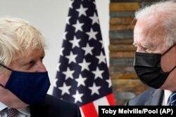 جو بایدن و بوریس جانسون در ملاقات قبل از برگزاری نشست سران هفت کشور صنعتی جهان در بریتانیا