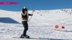 C луком и на лыжах: Кыргызстан развивает национальный биатлон